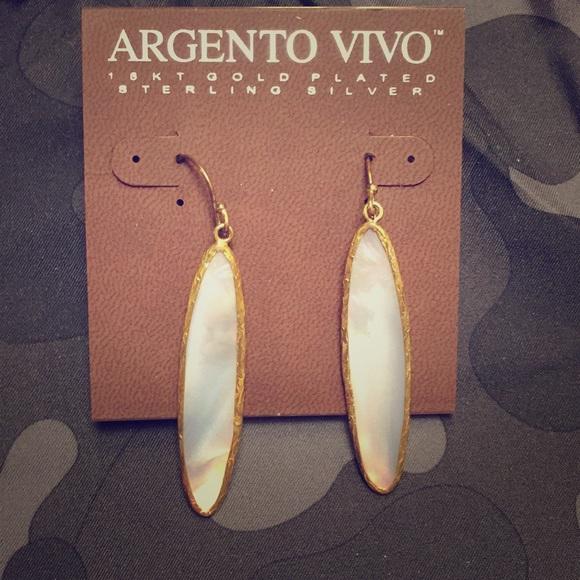 38508863a Argento Vivo Jewelry | Mother Of Pearl Drop Earrings | Poshmark